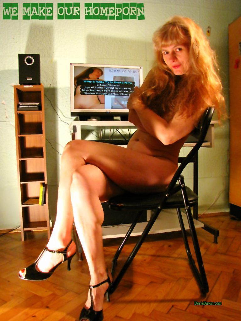 Posing while test running our first erotic DVD.