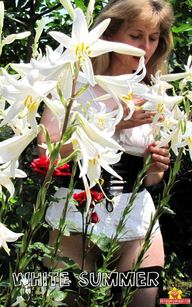 White Summer - white lilies, getting nude in my garden.