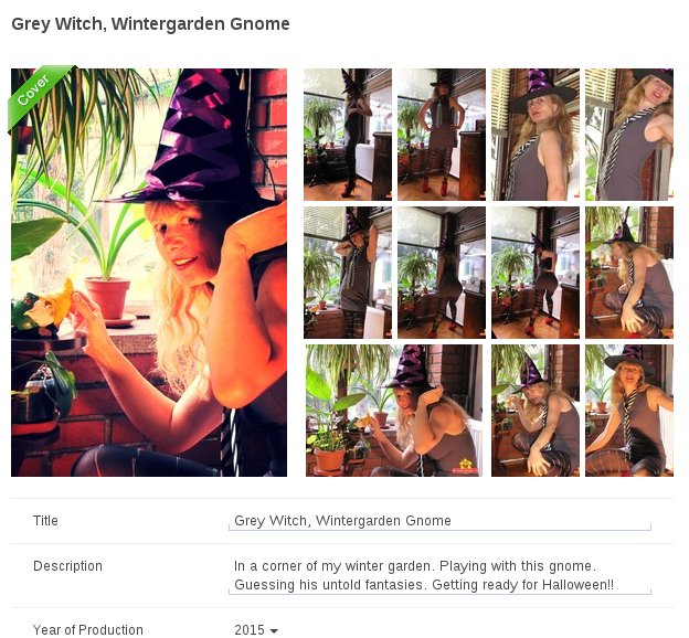 Coincidentally 69 pics in this 'Grey Witch' playing with her 'Gnome' photoset on CougarBunnies.com