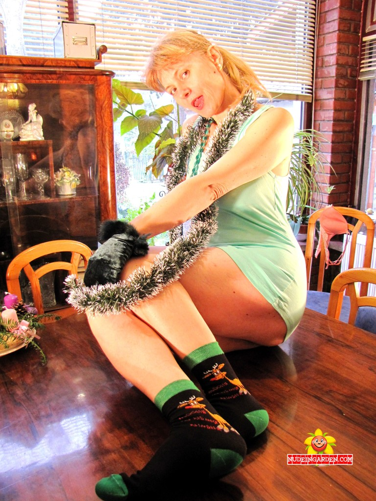 My new Rudolph socks...