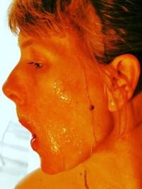Honey mask. It's sticky.