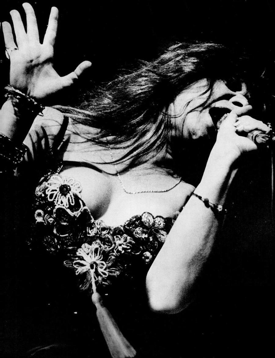 Janis Joplin performing