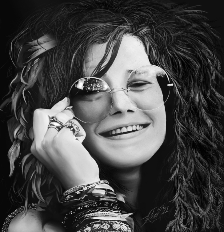 Janis Joplin - image on FunCage.com are readily available in various places on the Internet and believed to be in public domain.