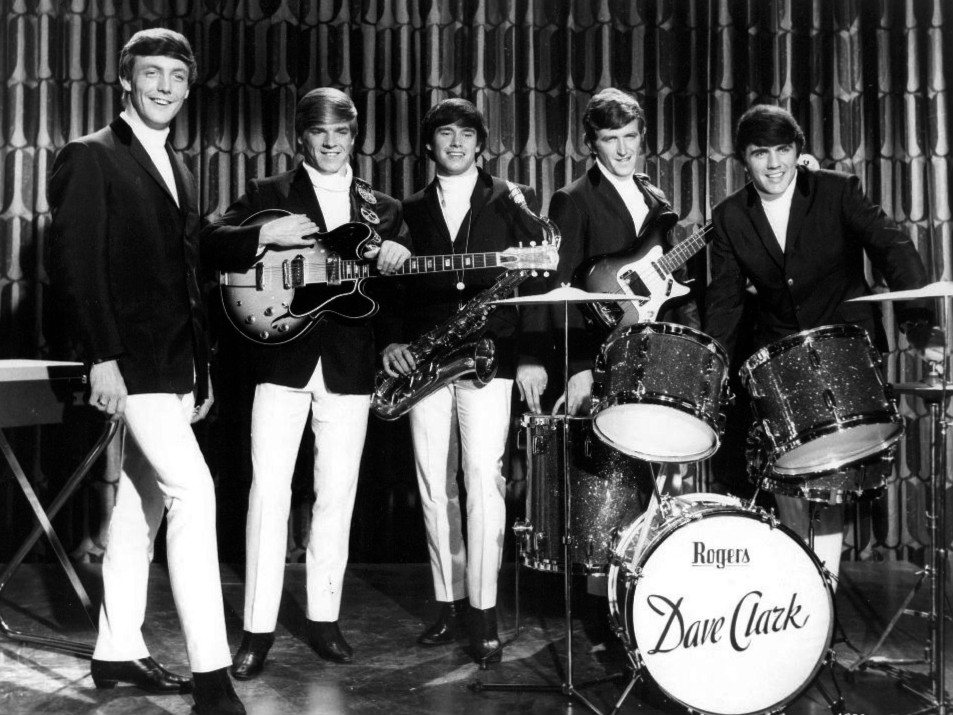 Publicity photo of The Dave Clark Five from their cameo performing appearance in the US film Get Yourself a College Girl.