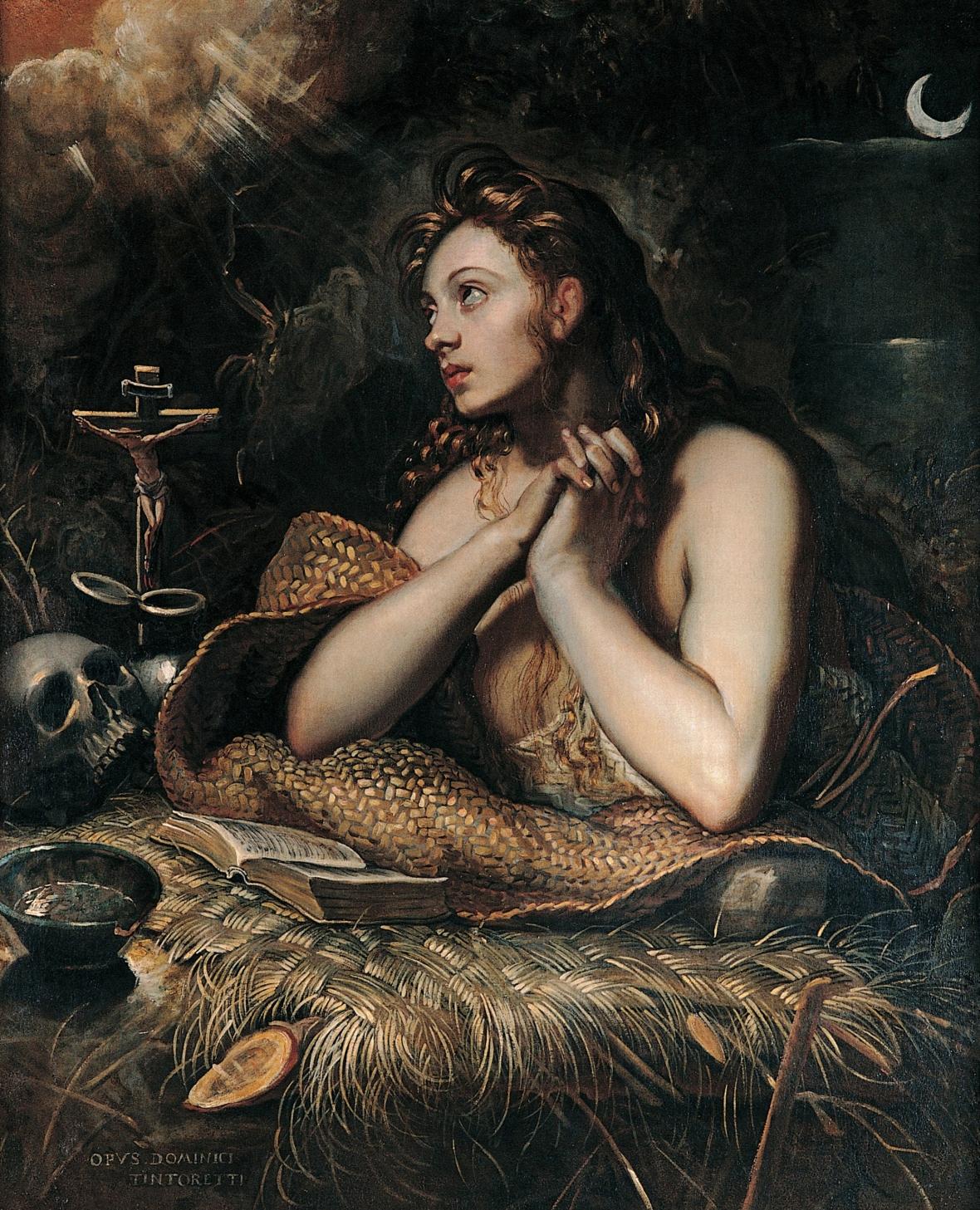 TINTORETTO - Magdalena penitente (Musei Capitolini, Roma, 1598-1602) - https://commons.wikimedia.org/wiki/File:TINTORETTO_-_Magdalena_penitente_(Musei_Capitolini,_Roma,_1598-1602)_-_copia.jpg