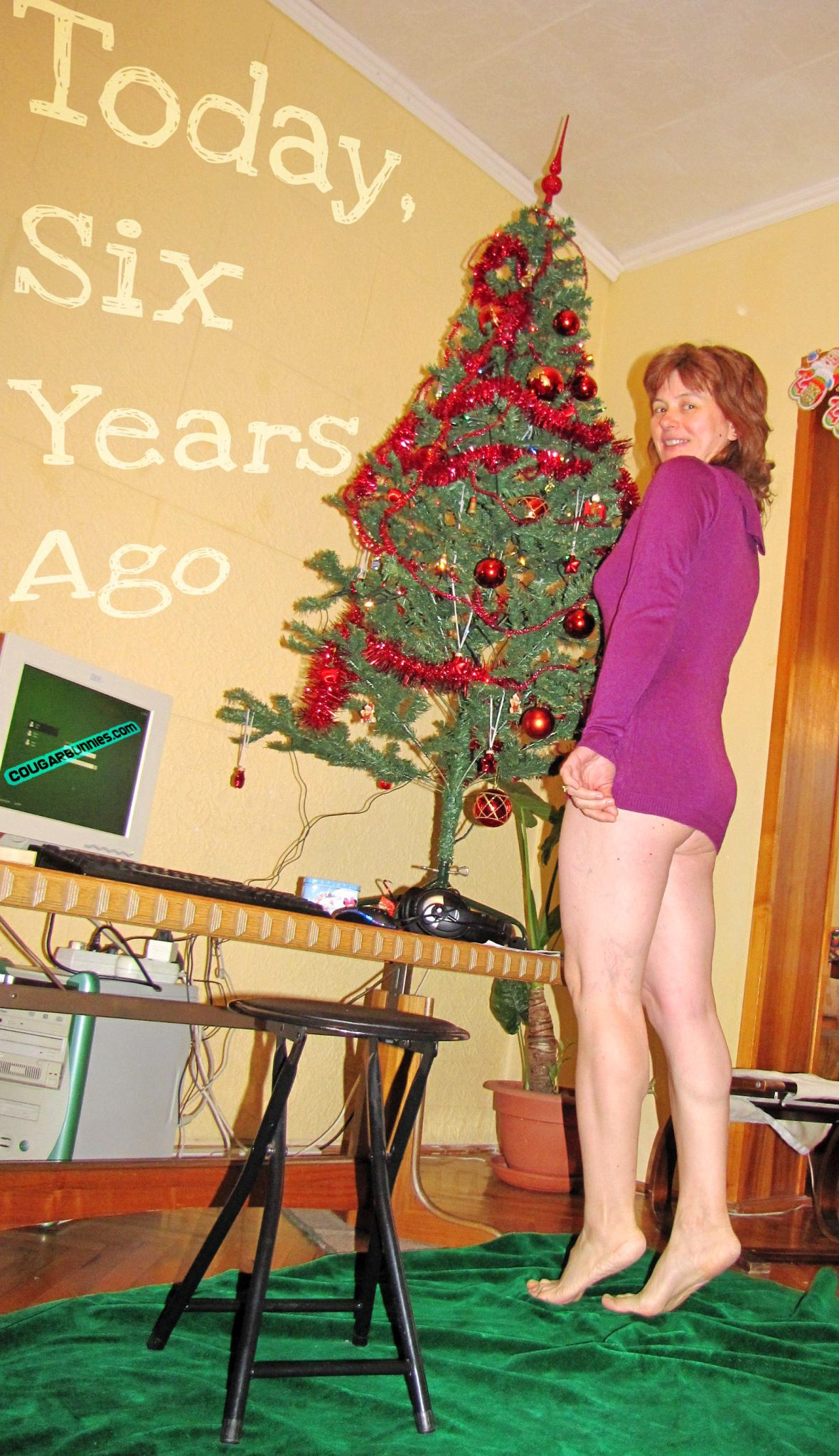 Today, six years ago. New year 2011 - after my get fat winter diet.