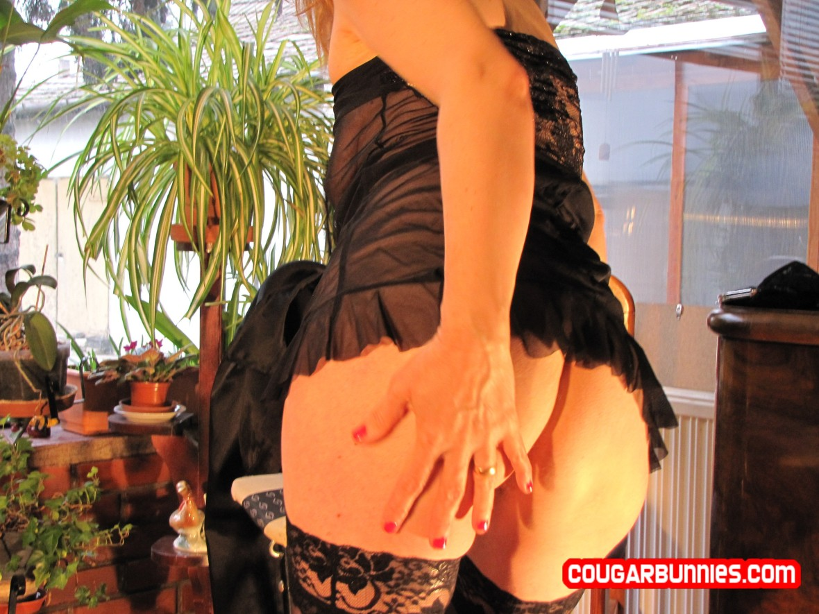 In black lingerie - on CougarBunnies.com